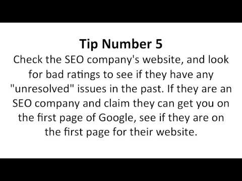Six Tips To Choosing the Best Search Engine Optimization Company
