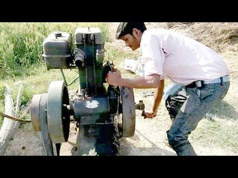 How to make farming water Diesel engine start !! [ by no 1 all India ]