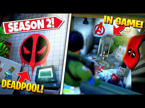 *NEW* SEASON 2 SECRET DEADPOOL ROOM *FOUND* IN-GAME IN FORTNITE! (Battle Royale)