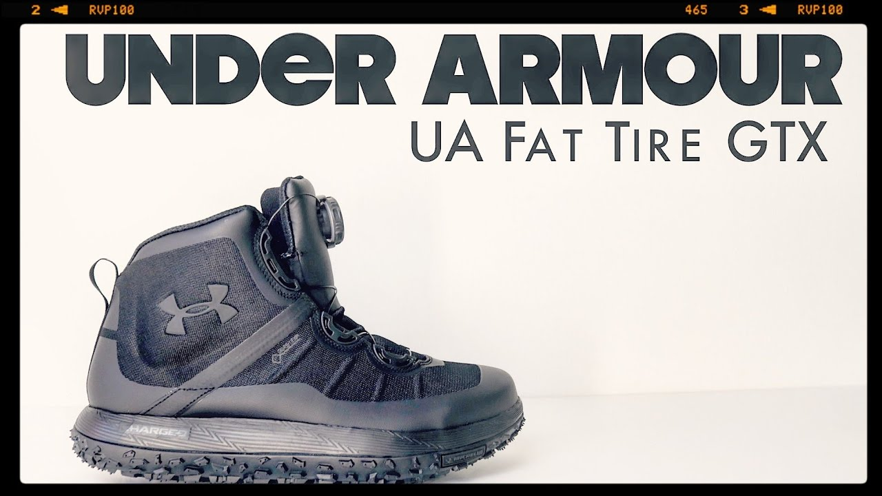 online store fefb1 62902 Under Armour | UA Fat Tire GORE-TEX | The Boot Guy Reviews