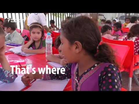 Foot path School in karachi by #Ocean Welfare Organization- OWO