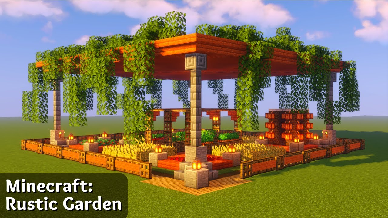 Minecraft: How To Build A Rustic Garden