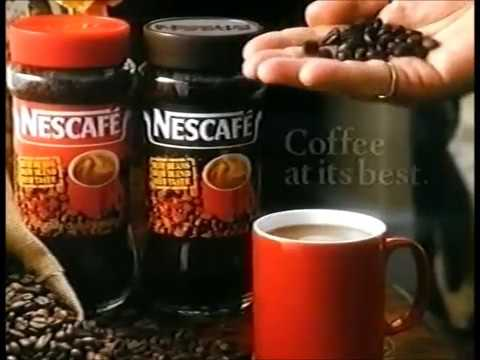 Nescafe: Three Up Two Down advert Michael Elphick & Angela Thorne, 1991