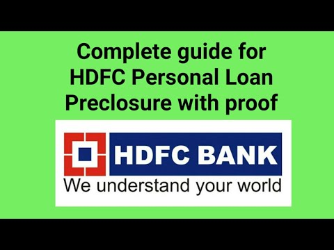 Hdfc Personal Loan Preclosure Youtube