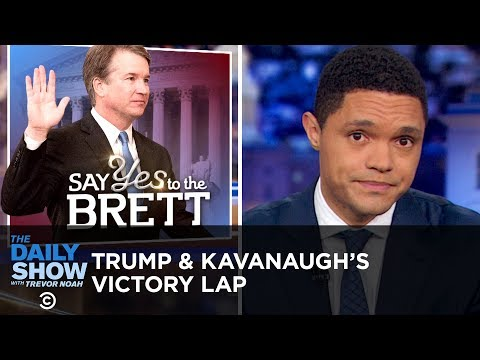 Trump Takes a Victory Lap After Kavanaugh Is Sworn In | The Daily Show thumbnail