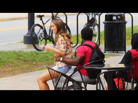 Globetrotters Originals - Funny Girl Sits on Random Guys | MUST WATCH