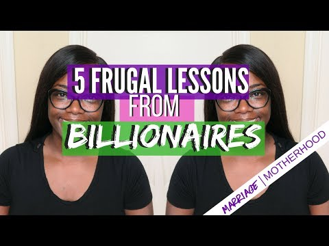 5 FRUGAL LESSONS FROM BILLIONAIRES | DEBT FREE FRIDAY