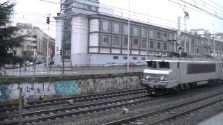 11 trains TER+4 trains TGV sous la neige à Lyon le dimanche 28 décembre 2014