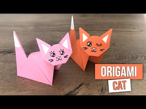How to Make a Paper Cat - Origami Cat