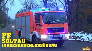 Major fire drill in Soltau - Emergency responses of the Soltau vol. Fire Department