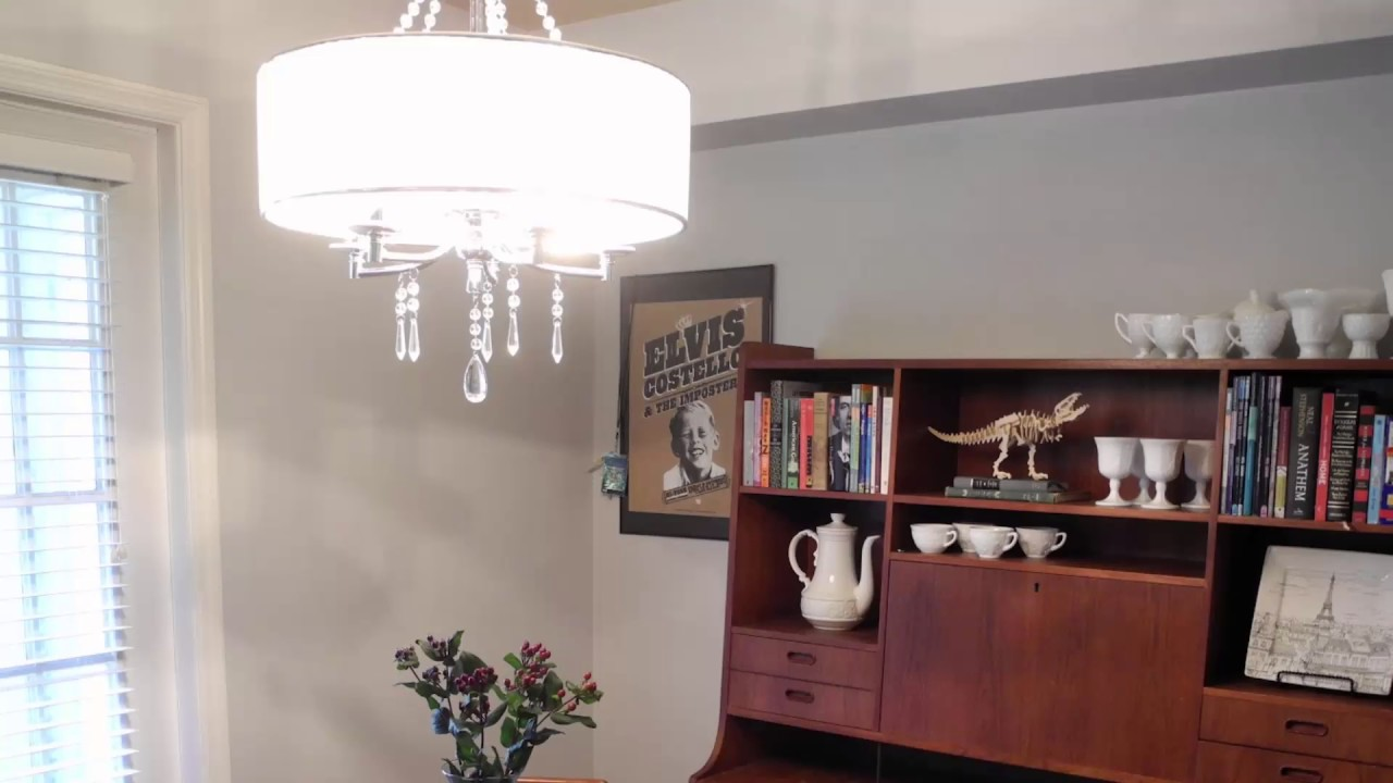 Hanging Dining Room Light Over Table - YouTube