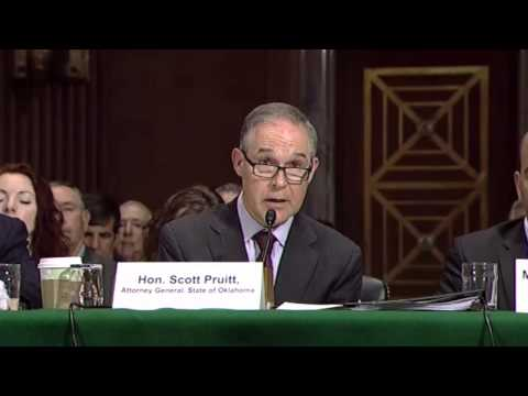 OK AG Scott Pruitt on 'flexibility' of EPA climate regs: 'like the proverbial gun to the head'