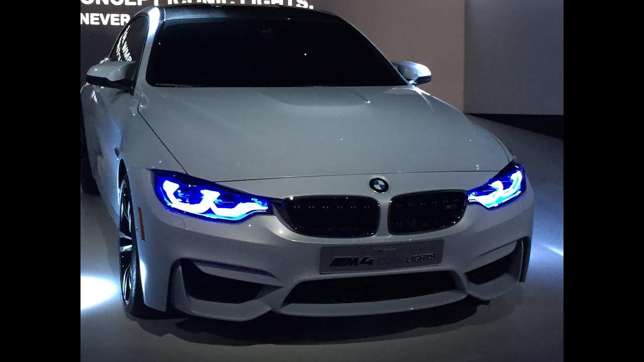 iconic lighting castiglioni bmw m4 concept iconic light demo ces 2015 youtube