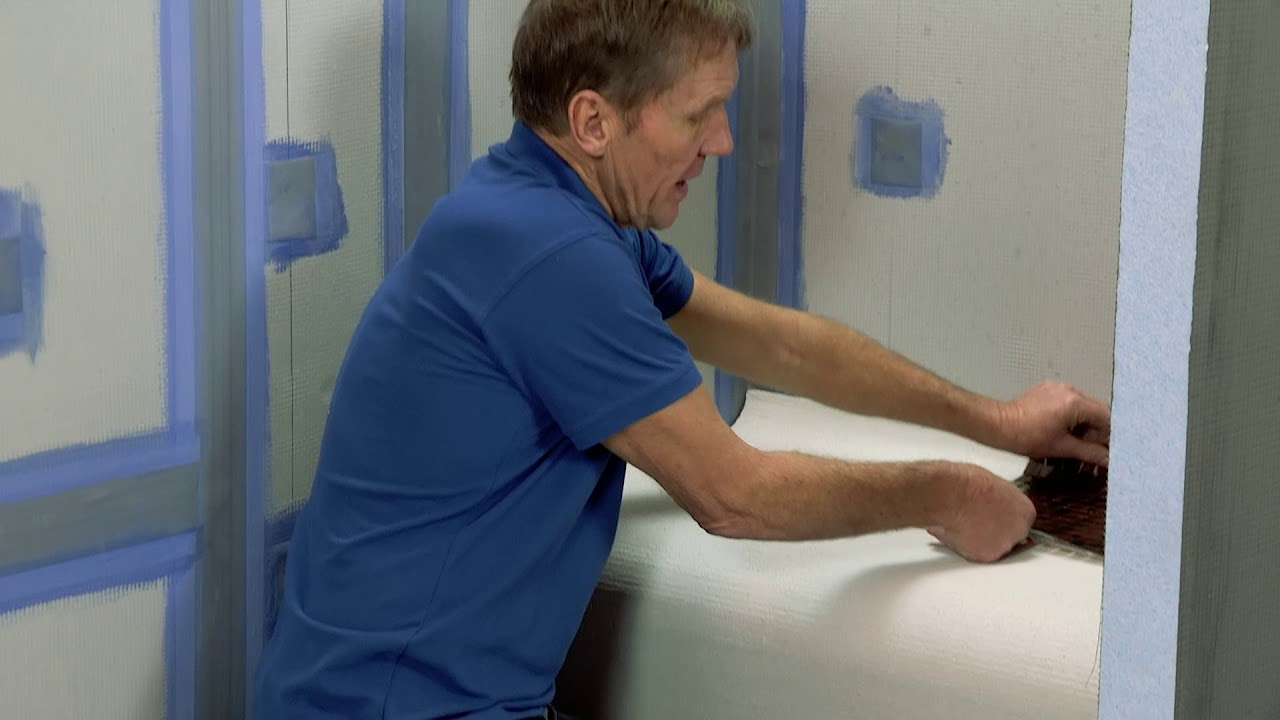 Installing a Tile-able Shower Seat - YouTube