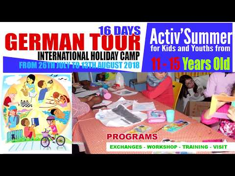 GERMAN TOUR 2018 - INTERNATIONAL YOUTH CAMP