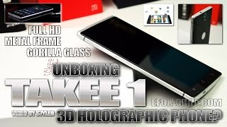 Takee 1 (Hands-on) 3D Holographic Phone? Eye-Tracking - Video by s7yler