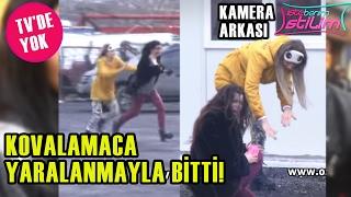 TV'DE YOK - Dilara Taşkın Ve Aleyna Eroğlu Nasıl Kuliste Birbirine Girdi!