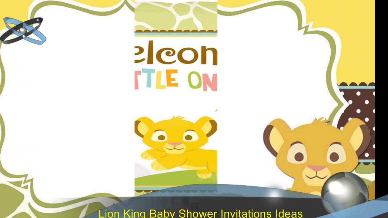 Lion King Baby Shower Invitations Youtube