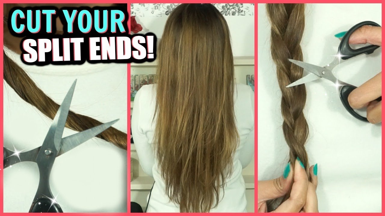 HOW TO CUT YOUR SPLIT ENDS AT HOME │ 12 HAIR CUTTING HACKS FOR CUTTING SPLIT  ENDS!