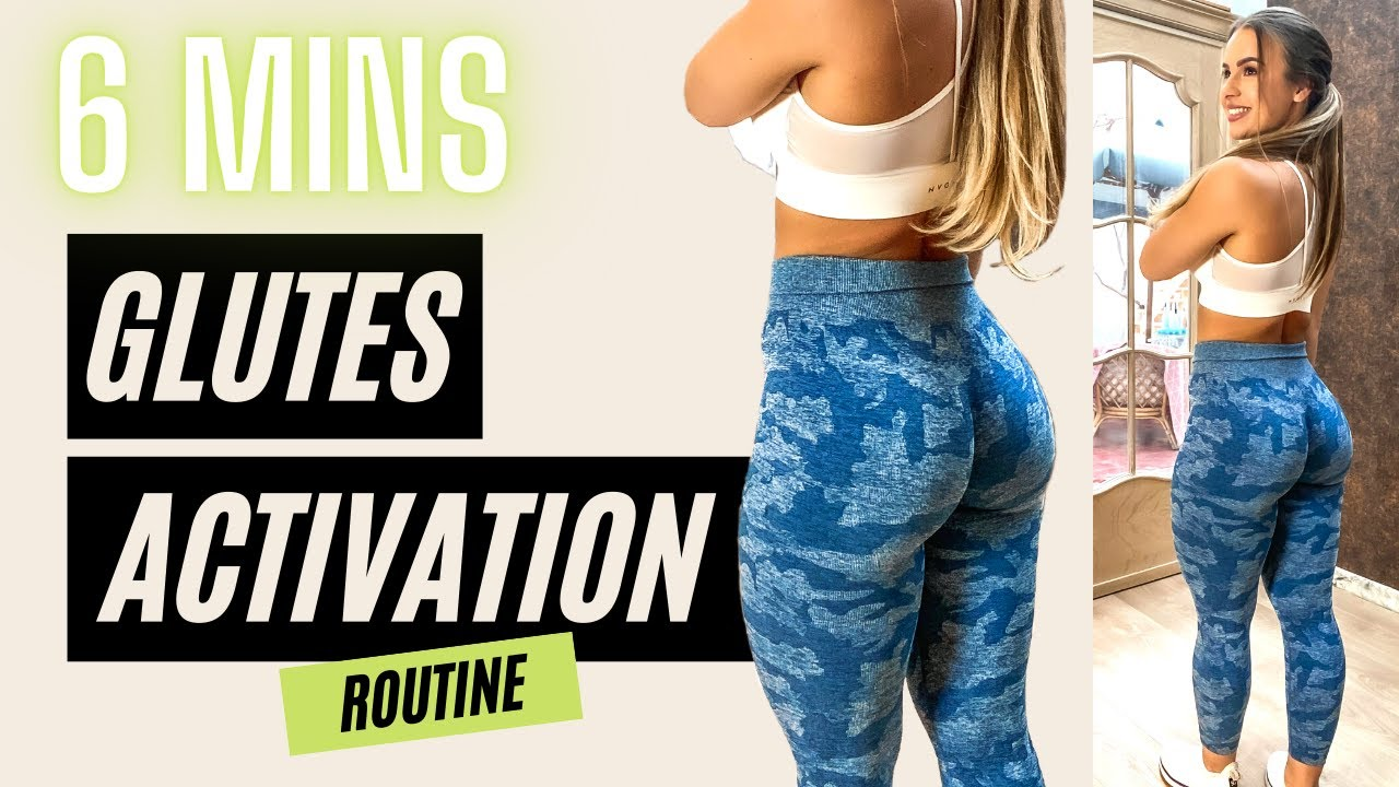 6 MIN BOOTY ACTIVATION ROUTINE (bodyweight) - Improve your glutes game