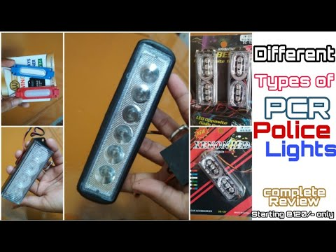 Best Police PCR Lights For Two-four Wheeler ||police Light For Bike || Shekhawatmodifiers