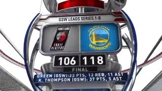 portland trail blazers vs golden state warriors may 1 2016