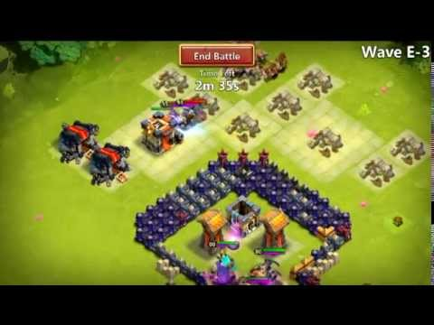Castle Clash - Farming E No Garrisons 4* Heroes