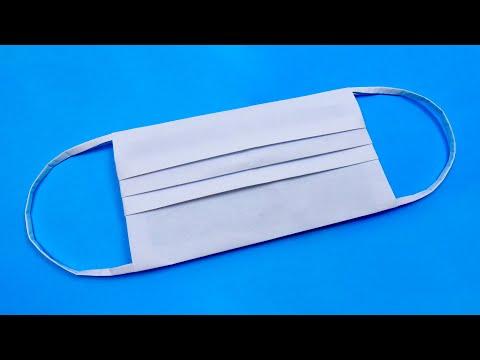 Оригами: медицинская маска. Как сделать маску из бумаги А4 без ножниц - лёгкое оригами
