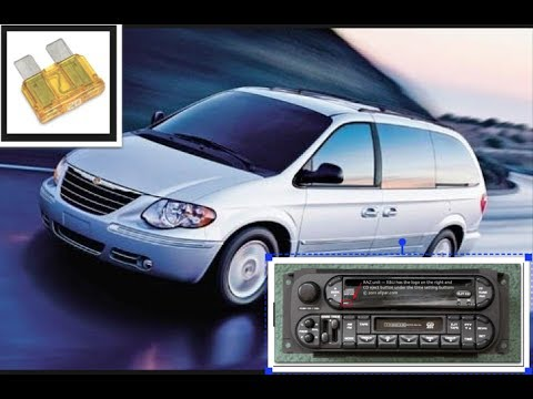2006 chrysler town and country radio not working,fixed problem by cleaning  fuse