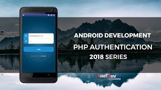Android Development Tutorial - Authentication with PHP WebService part 1