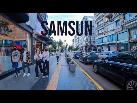 Samsun Walking Tour in 4k! Turkish Black Sea Summer 2021