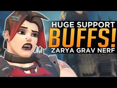 Overwatch: HUGE Ana & Lucio BUFFS! - Zarya Graviton NERF!