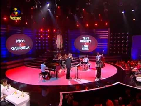 A Tua Cara Não Me é Estranha-Mico e Gabriela interpretam Tony Bennet e Lady Gaga.