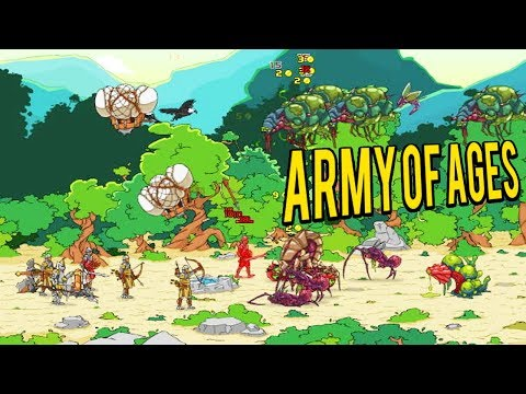 AGE OF WAR 3? Battling Aliens Through History - Army of Ages Gameplay