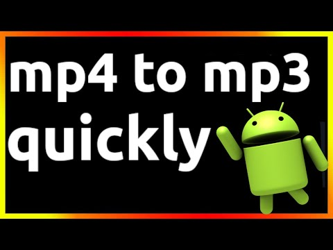 how to convert mp4 to mp3 in android phone