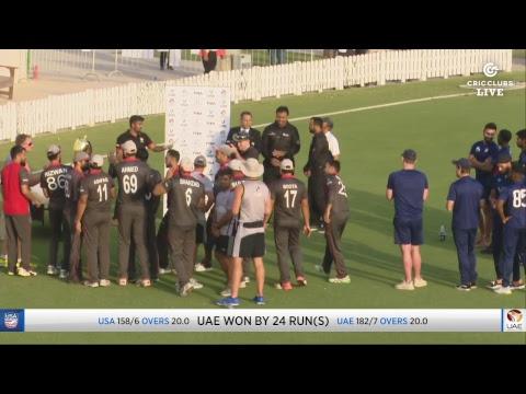 LIVE CRICKET - 2nd UAE v USA Twenty20 International