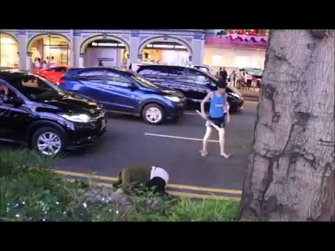 Orchard Road fight December 2016! Chinese Vs Ang moh
