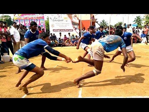 Kabaddi semi final pk sports  jolarpettai vs blue star pernampat  Isha Gramotsavam semi final thumbnail