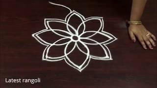 simple & easy freehand kolam without dots || Latest creative rangoli designs