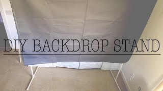 How To Make Your Own BackDrop Stand For $12!