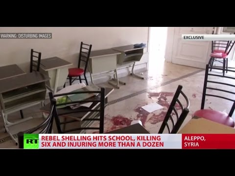 DISTURBING: Aleppo school shelling, 6 children killed, over a dozen injured (RT EXCLUSIVE)