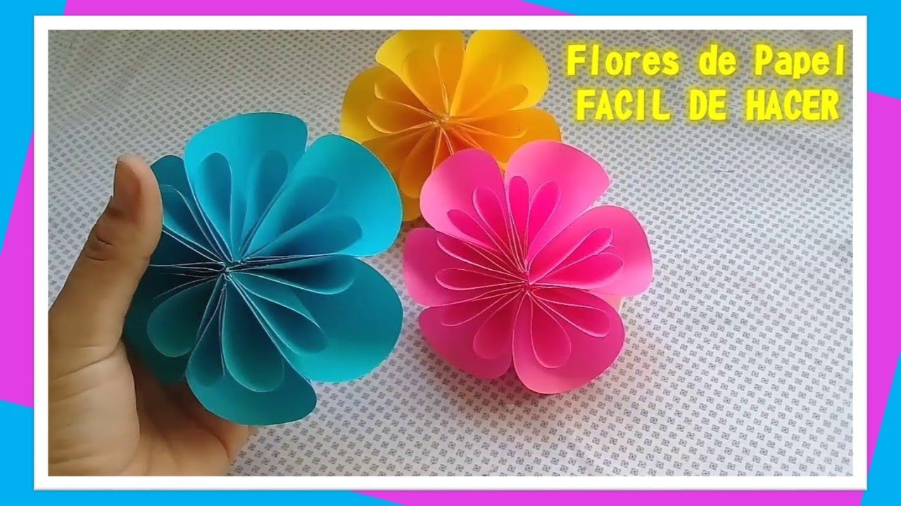 Flores de papel facil de hacer youtube - Decorar paredes facil ...