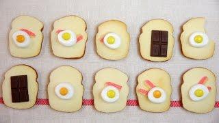 TrickRecipes #FriedEgg #Toast #Cookie #Recipe #ASMR #OddlySatisfyin...