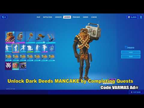 How To Unlock Dark Deeds Mancake In Fortnite Chapter 2 Season 5 Youtube The mancake skin is a fortnite cosmetic that can be used by your character in the game! how to unlock dark deeds mancake in fortnite chapter 2 season 5