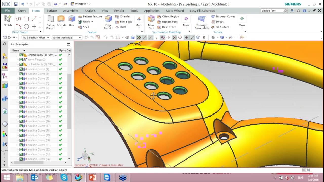 NX 10 Mold Wizard - Cavity and Core advanced - Siemens NX - User Forums