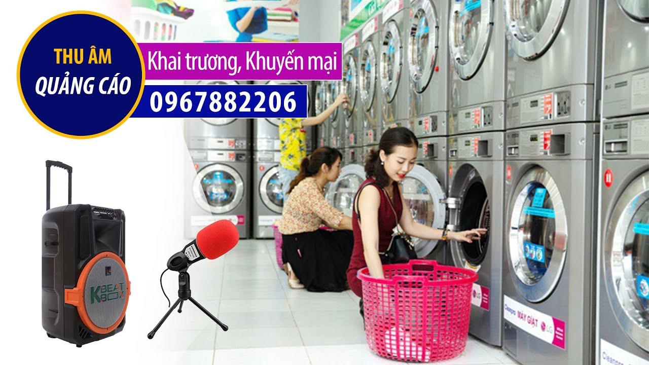 Thu âm khai trương quảng cáo Cửa hàng giặt sấy True Clean