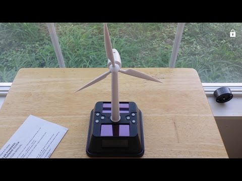 Solar Powered Wind Turbine Clock - Super Adorable!