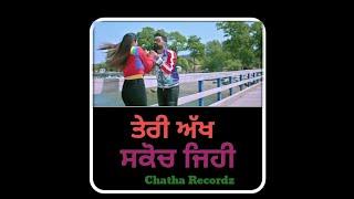 Love You Ni Mutiyare❤👉Amrit Maan(WHATSAPP STATUS VIDEO)❤👉Neeru Bajwa❤👉Chatha Recordz