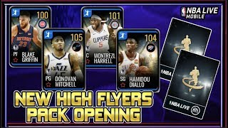 NEW 105 OVR HIGH FLYERS PACK OPENING! | NBA LIVE MOBILE 19 S3 NEW HIGH FLYERS PLAYERS