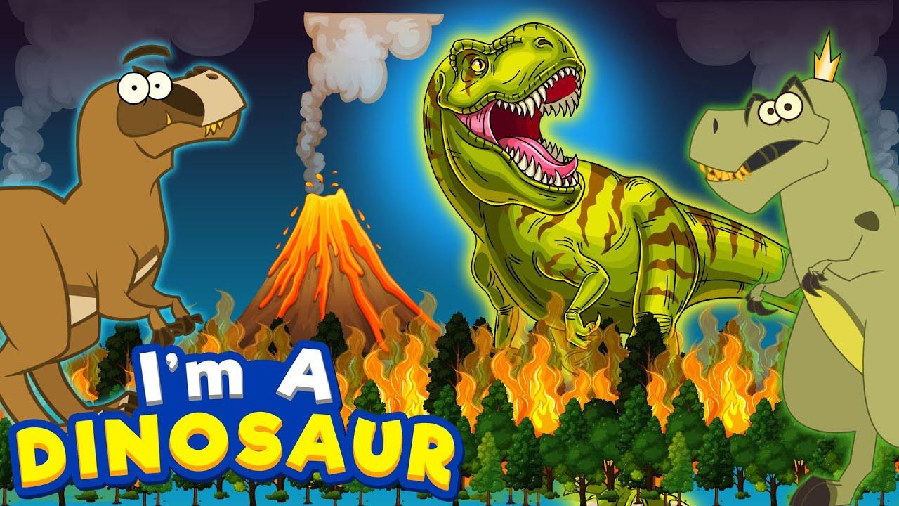 Dinosaur | Giganotosaurus And T Rex | Funny Dinosaur Cartoon for Kids